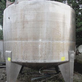 13,500L S/S JKTD Contra Rotational  mixing vessel 5.5 Kw